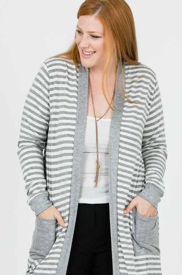 Yeza Grey Cardigan