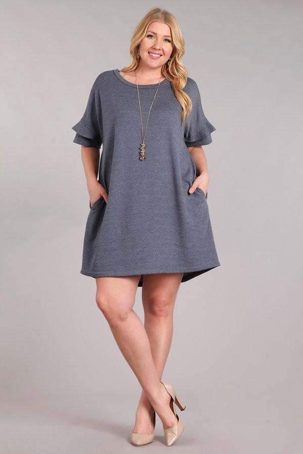 Josephine Dark Grey Dress