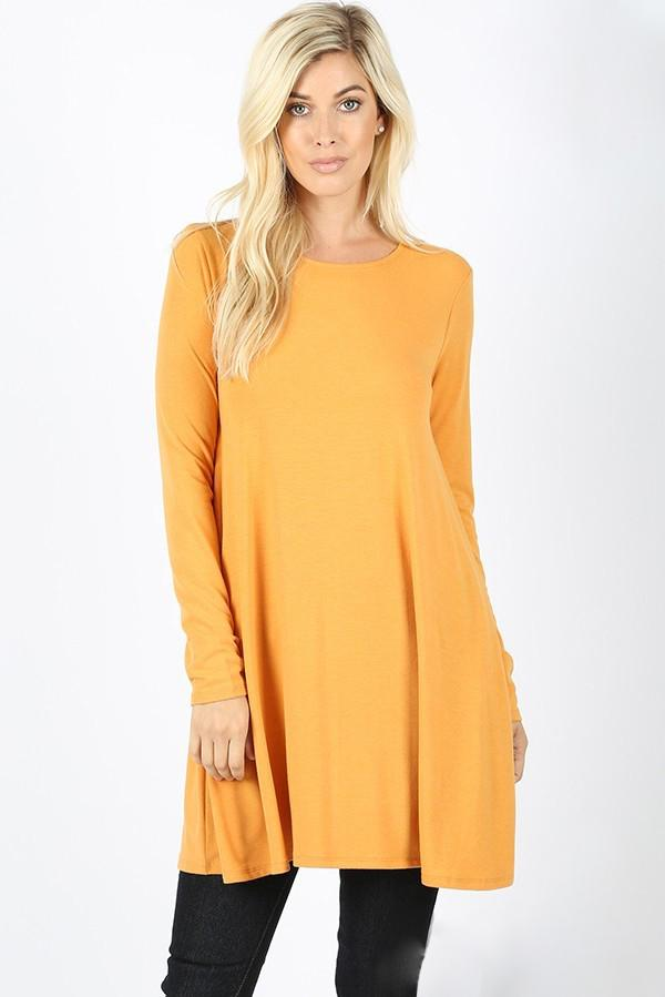 Voala Mustard Long-Sleeve Shirt