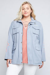 Yasmine Powder Blue Jacket