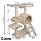 Cat Tree House / Cat Play Gym House / Play Time with Scratching Post - MCPCATY