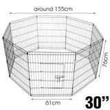 "24"" x 8 Dog Playpen Pet Dog / Small Pet Playpen / Cage Puppy Crate Enclosure."