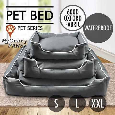 Pet Bed Dog or Cat Bed Waterproof Cushion Soft Mat Warm Winter Size S, L, XXL