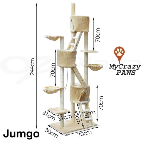 Cat Tree House / Cat Play Gym House / Play Time with Scratching Post - MCPJUMBO