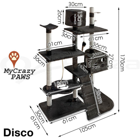 Cat Tree House / Cat Play Gym House Play Time with Scratching Post - MCPDISCO