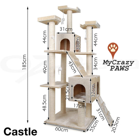 Cat Tree House / Cat Play Gym House / Play Time with Scratching Post - MCPCASTLE