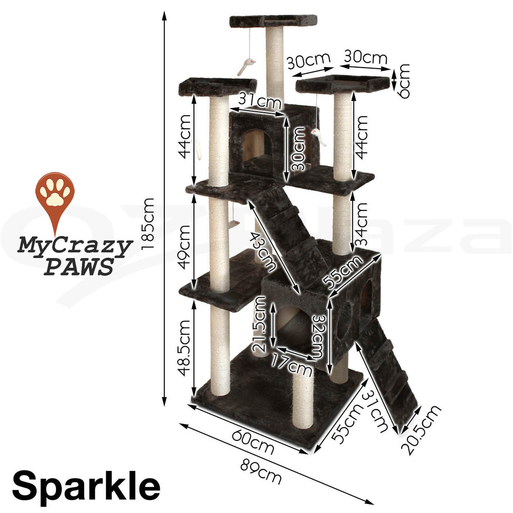 Cat Tree House / Cat Play Gym House / Play Time with Scratching Post - MCPSPAKLE