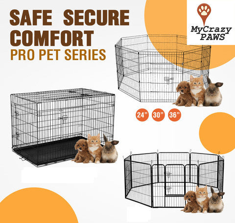 "30"" x 8 Dog Playpen Pet Dog / Small Pet Playpen / Cage Puppy Crate Enclosure."