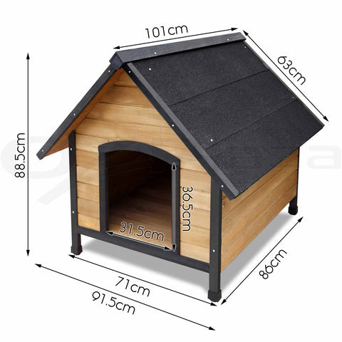 Pet House Dog Kennel House Extra Large Timber Wooden Cabin Wood Indoor Outdoor