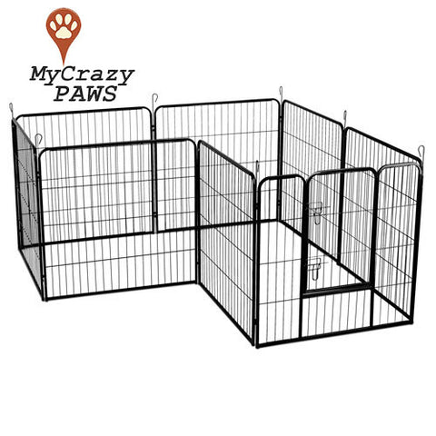 Large Dog Small Pet Playpen 80cm x 8 Panel Pet Dog / Small Pet Playpen / Cage Puppy Crate Enclosure.
