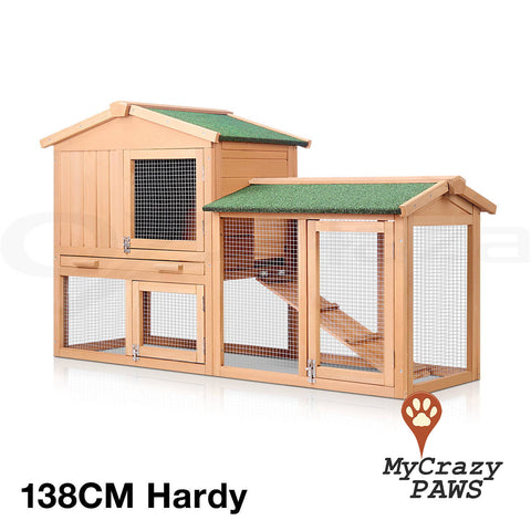 138CM Rabbit Hutch / Cage Outdoor Rabbit Guinea Pig Chicken Small Pet Cage / Hutch