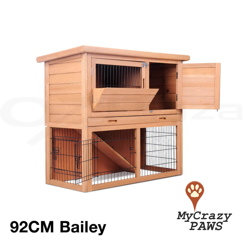 92CM Rabbit Hutch / Cage Outdoor Rabbit Guinea Pig Chicken Small Pet Cage / Hutch