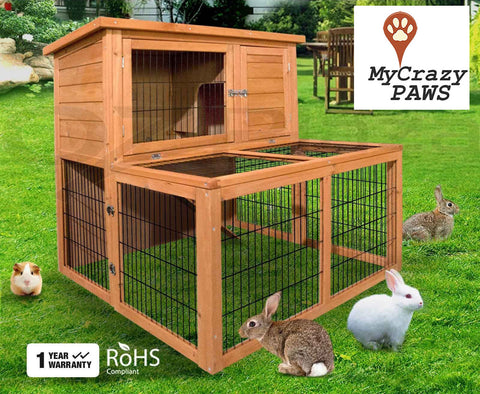 Hutch / Cage Indoor/Outdoor 2 Story Rabbit Guinea Pig Chicken Small Pet