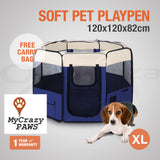 Large Portable Pet Playpen Puppies Dog Cat Kittens Soft Playpen Dog Cat Puppy Play