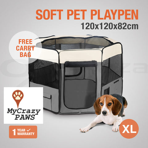 Large Portable Pet Playpen Puppies Dog Cat Kittens Soft Playpen Dog Cat  Puppy Play ...