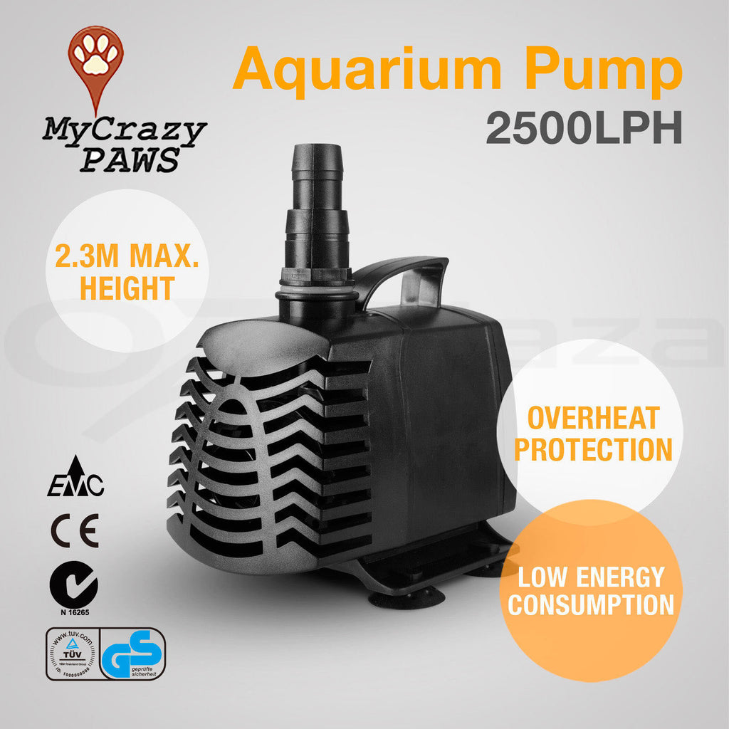 Aquarium Pump Fish Tank Pond Pump Aquarium Submersible Aquarium Fountain Pond Pump 2500LPH