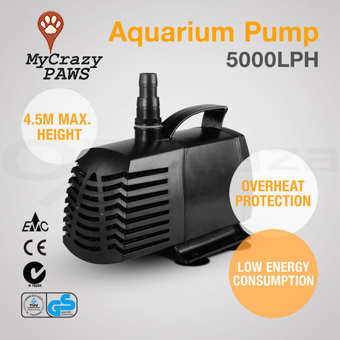Aquarium Pump Fish Tank Pond Pump Aquarium Submersible Aquarium Fountain Pond Pump 5000LPH
