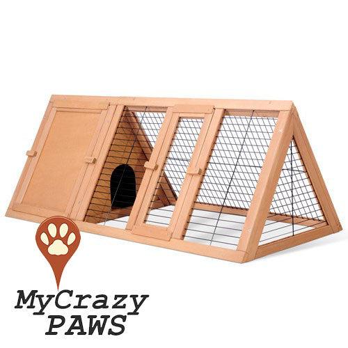 Rabbit Hutch Small Pet Cage Poultry Guinea Pigs Ferrets Chicken Indoor/Outdoor