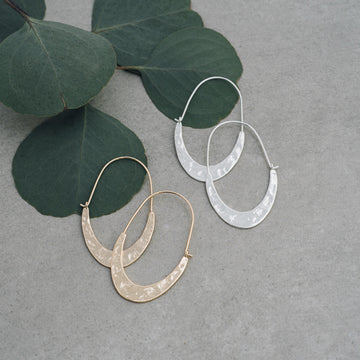TRIBAL HOOPS-ROSE GOLD