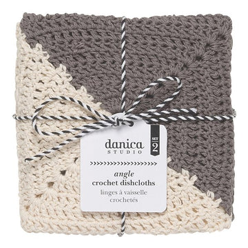 Angle crochet dishcloths