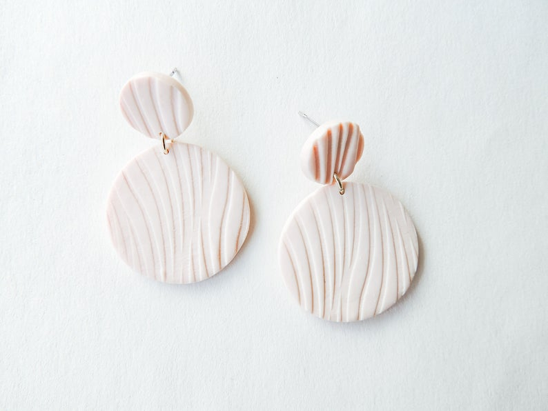 Heather - Polymer Clay Earrings