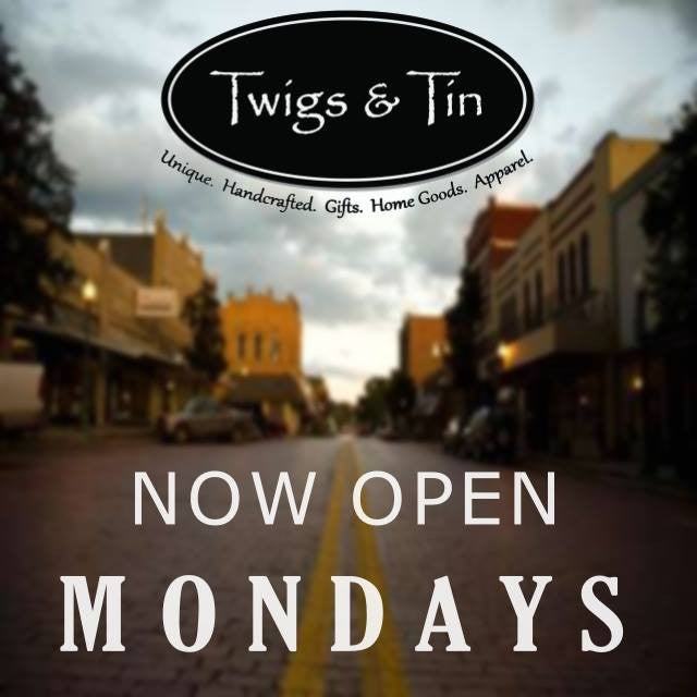 Now open Mondays!