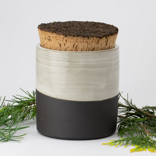 Modern & Rustic Ceramic Corked Container