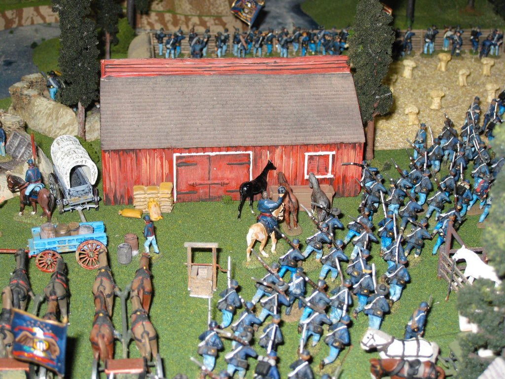 100 Figure Bulk Pack - U.S. Infantry Advancing - 20th Maine with Colonel Joshua Lawrence Chamberlain