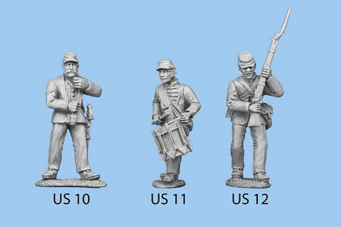 US-10 Union Infantry in Sack Coats - Standing / Standard Bearer