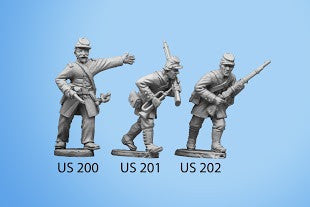 US-202 Berdan's Sharpshooters / Group one / Advancing / Rifle in both hands, left leg forward