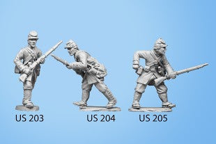 US-204 Berdan's Sharpshooters / Group one / Advancing / Rifle in both hands, crouched down
