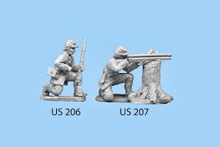US-207 Berdan's Sharpshooters / Group one / Kneeling / Firing Rifle with Scope / Leaning on tree stump
