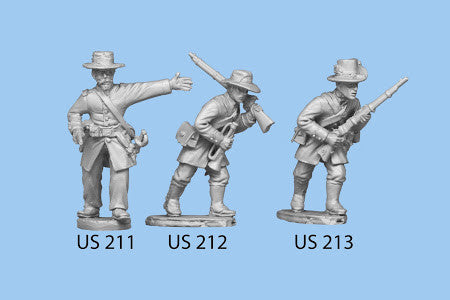 US-213 Berdan's Sharpshooters / Group two  / Advancing / Rifle in both hands, left leg forward