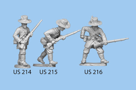 US-214 Berdan's Sharpshooters / Group two  / Advancing / Rifle in both hands, righ leg forward