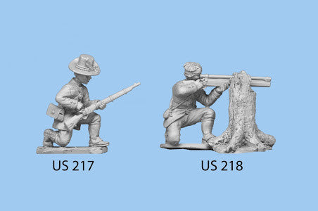US-218 Berdan's Sharpshooters / Group two / Kneeling and Firing Rifle with Scope / Leaning on tree stump