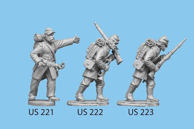 US-223 Berdan's Sharpshooters / Group three / Advancing / Rifle in both hands, left leg forward