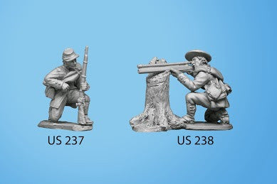 US-238 Berdan's Sharpshooters / Group four / Kneeling and Firing Rifle with Scope, leaning on tree stump