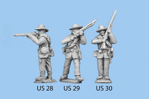 US-28 Union Infantry in Sack Coats / Blanket Roll / Standing and Firing, legs together