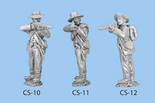 CS-11 Confederate Infantry in Shell Jacket / Blanket Roll / Standing and Firing - legs together