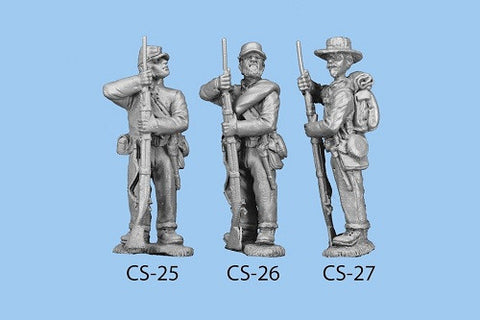 CS-26 Confederate Infantry in Shell Jacket / Blanket Roll / Ramming Ball