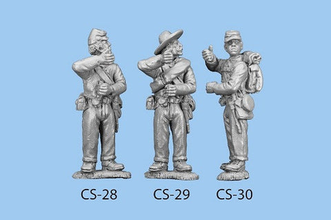 CS-30 Confederate Infantry in Shell Jacket / Back pack / Standard Bearer