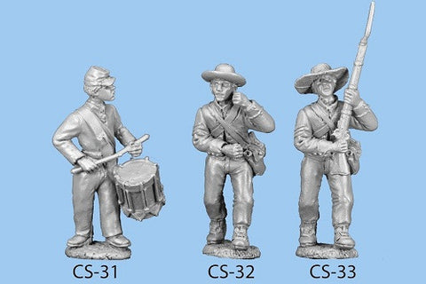 CS-33 Confederate Infantry in Shell Jacket / Seargent / Standing, ready to step off