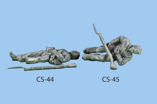 CS-44 Confederate Infantry in Shell Jacket / Lying Wounded, barehead