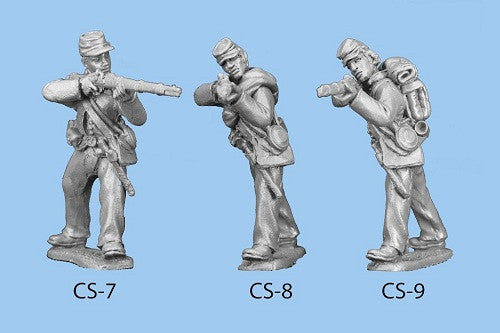CS-8 Confederate Infantry in Shell Jacket / Blanket Roll / Standing and Firing - legs spread