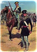 U.S. Dismounted Dragoons - 11 troops - 1 officer