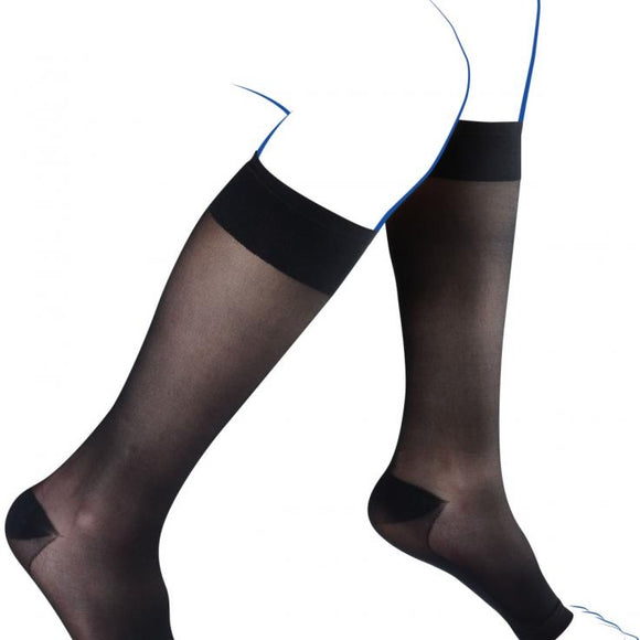 THUASNE CHAUSSETTES COMPRESSION CONTENTION INCOGNITO ABSOLU PIEDS OUVERTS CLASSE 2