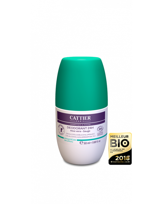 CATTIER BIO Déodorant Roll-on 24H - 50 ml