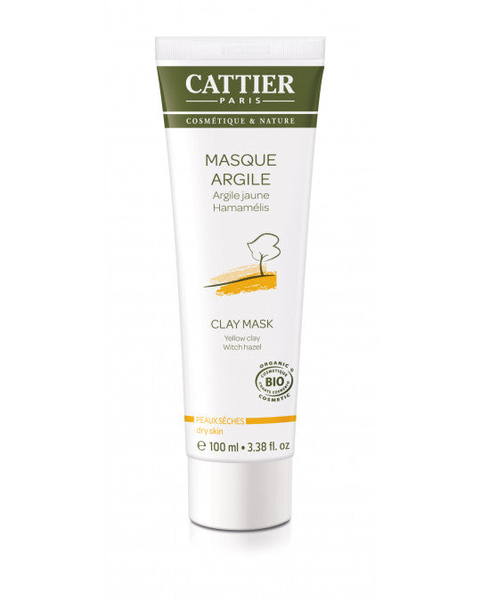 CATTIER BIO Masque Argile Jaune - Hamamélis  - 100 ml