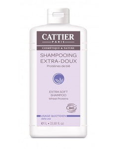 CATTIER BIO Shampooing Extra-Doux - Usage Quotidien - 1 L