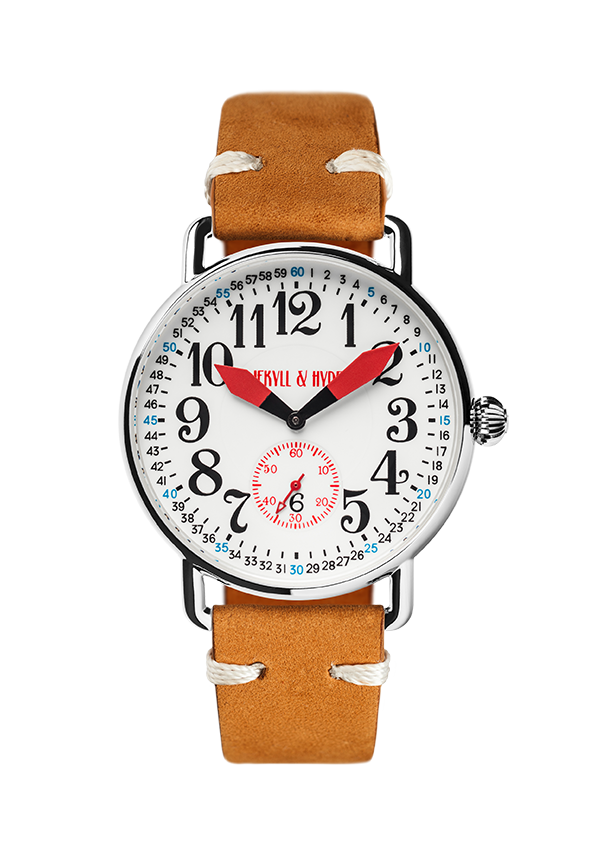 """Unleashed"" white & red Arabic 42 mm"